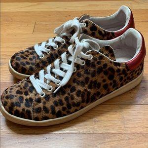 Isabel Marant. Cheetah Hair Sneakers. Size 39